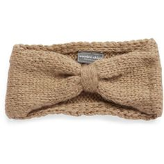Wooden Ships Knotted Knit Headband ($15) ❤ liked on Polyvore featuring accessories, hair accessories, hair, hats, tan, hair band headband, knotted headwrap, headband hair accessories, knot headband and head wrap headband