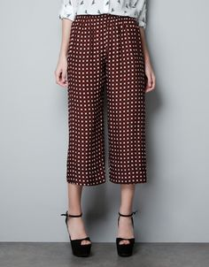 TROUSERS WITH TIE PRINT - Trousers - Woman - ZARA United Kingdom