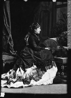 Lady Lisgar, Montreal, QC, 1870 Silver salts on glass - Wet collodion process I-60131 © McCord Museum