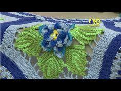 Vida com Arte | Flor do tapete hexágono em crochê por Maria José - 03 de Setembro de 2015 - YouTube
