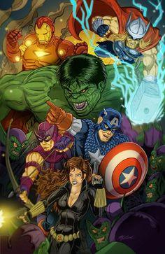 #Avengers #Fan #Art. (In the Midst of Skrulls) By: KileyBeecher. (THE * 5 * STÅR * ÅWARD * OF: * AW YEAH, IT'S MAJOR ÅWESOMENESS!!!™) ÅÅÅ+