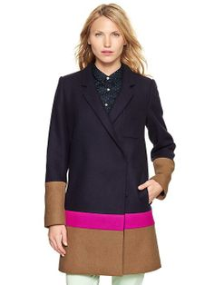 Gap Colorblock Driving Coat - SO cute!