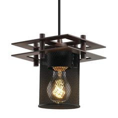 Justice Design Group Wire Mesh 1 Light Mini Pendant Finish: Brushed Nickel