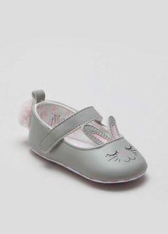 beeae417047 Girls Soft Sole Bunny Shoes (Newborn-18mths) View 1