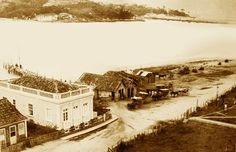 Fotos Antigas de Florianópolis  1920, ANTES DA PONTE HERCÍLIO LUZ - Ponta do Estreito co o canal que separa o continente da ilha de Santa Catarina.