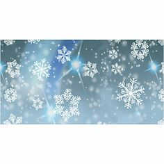 Party Photo Booth - Snowflake Background Illustration