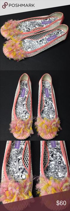 Designer Emilio Pucci Mesh Pink Slip on Shoes 39 Good used condition, see photos please. EU sz 39/ US 8-8.5. Emilio Pucci Shoes Flats & Loafers