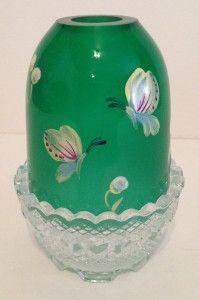 7300HP35, Emerald Green Hand Painted Butterflies Fairy Light – Fenton's Collectibles