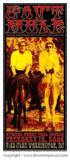 2003 Gov't Mule & Karl Denson Silkscreen Concert Poster - Wood