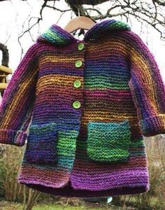 Manteau ans – aiguilles 5 – tuto – Sweet anything Manteau ans – aiguilles 5 – tuto – Sweet anything Kids Knitting Patterns, Baby Sweater Knitting Pattern, Knitting For Kids, Baby Patterns, Knit Baby Sweaters, Magia Do Crochet, Crochet Baby, Knit Crochet, Knitted Coat