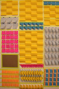 post-its! | Fun approach to paper experimentation and sculpture