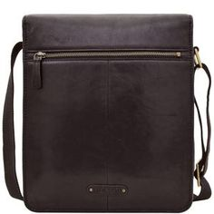 Aiden 02 Leather Messenger Bag (Black e3a1ebbd46c05