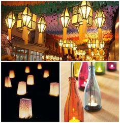 Decoração de festa junina com elementos fofos de luz em iluminação