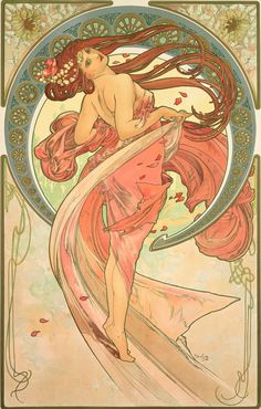 Mucha was ahead of his time. This painting was made in the late 1800's and yet this style is still relevant today.