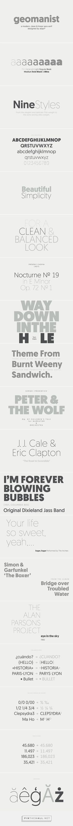 geomanist font on Behance by atipo... - a grouped images picture - Pin Them All