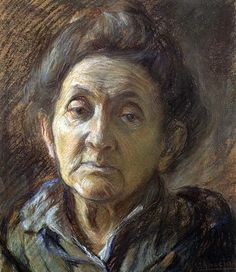 The artist' mother ? By Umberto Boccioni (1882-1916)