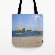 I Saw Three Ships On Christmas Day Tote Bag