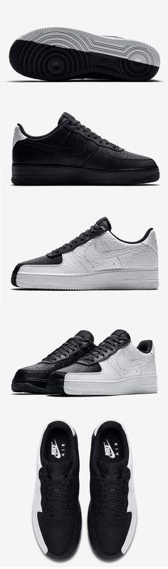 #Nike Air Force 1 Low #Split Black/White