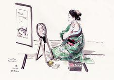 Virtual Memory, Makita, Joker, Memories, Drawings, Kimono, Study, Fictional Characters, Amor