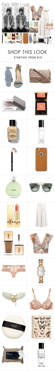 """""""Paris With Louis (Requested)"""" by one-direction-outfitsxxx ❤ liked on Polyvore featuring Steve Madden, Chloé, Burberry, Yves Saint Laurent, Bobbi Brown Cosmetics, Gucci, Moshi, Chanel, Prada and Amanda Wakeley"""