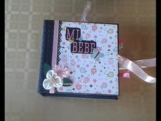 Mini álbum de scrapbooking Baby Girl con caja - YouTube