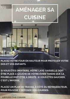 comment bien aménager sa cuisine idée et conseil agencement cuisine avec verriere noir mat moderne