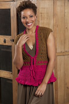 Ravelry: Tailored Vest free pattern by Erika and Monika Simmons