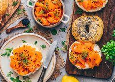 Homemade Ravioli, Homemade Bagels, Carrot Lox, Lox Recipe, How To Store Carrots, Lox And Bagels, Mandoline, Vegan Fish, Brunch