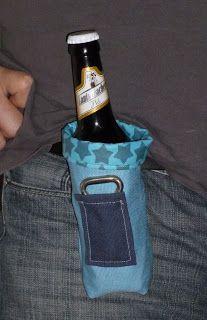 Ich hab die Idee einen Bierflaschenhalter für den Gürtel gesehen und dachte mir, das wäre das richtige Geschenk für meinen Mann zum Vaterta...