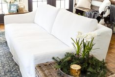 Ikea farlov sofa - how it's holding up 8 months later - bless'er house White Couch Living Room, Ikea Living Room, White Couches, White Ikea Couch, Living Rooms, Couch Furniture, Living Room Furniture, Outdoor Furniture, Modern Furniture