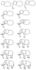 olifant tekenen / minimahulp.nl