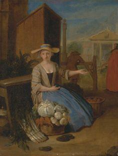 1720s Angellis-Vegetable Seller, Covent Garden-Yale Br Art B1973.1.2