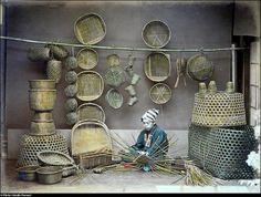 Japan 1886--basket weaver
