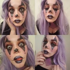 Halloween clown makeup #halloween #makeup #mua #cosplay #wig
