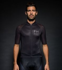 Black Carbon Jersey Man