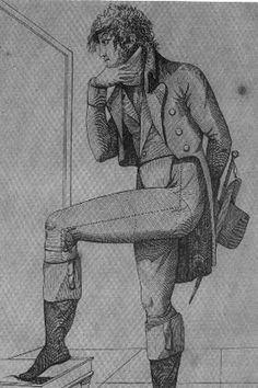 El chaleco deriva de la chupa, que era una especie de saco interior con faldón que llegaba a las rodillas, casi siempre sin mangas. El chaleco, cuando apareció en los primeros años de 1800, tendría corte severamente recto justo donde empieza el ombligo, y no taparía las ingles de los varones sino hasta 1840, aproximadamente.