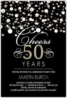 50th Birthday Invitations With Photo 80th Decorations 60th Invitation Templates