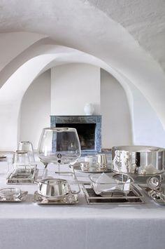 Silver Time par Christofle #Christofle #Silver #SilverTime #Glass #Tableware ©LUXPRODUCTIONS | Jean-François JAUSSAUD