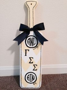 Gamma Sigma Sigma monogrammed paddle for induction