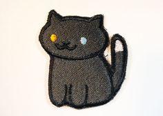 Pepper Neko Atsume Sew On Machine Embroidered by JuliefooStitches