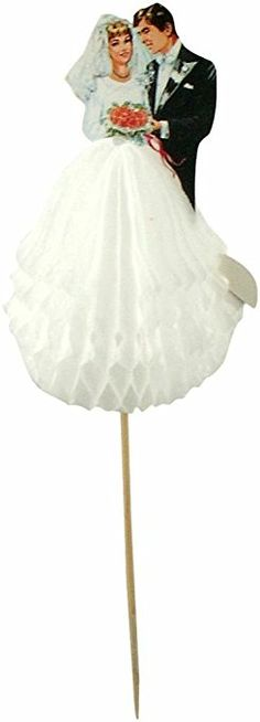 Party Partners Design Bride and Groom Tall Decorative Food Picks, Black/White, 12 Count, $15