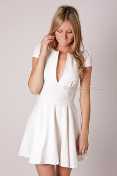 shelley cocktail dress - white. too bad you can only wear it if you dont have boobs