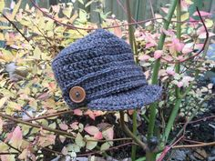 Items similar to Crochet Child's Hat - months - military style peak cap hat - button detail - brown Aran wool / acrylic yarn - made to order in any size on Etsy Military Style, Military Fashion, Peaked Cap, Conkers, Felt Decorations, Kids Hats, Crochet For Kids, 12 Months, Blues