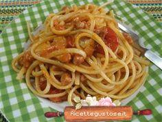 Linguine pomodorini e gorgonzola