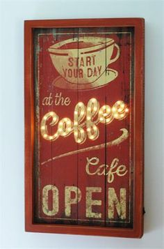 Lighted Box Sign, Coffee Cafe