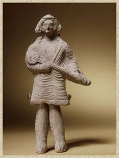 Long neck lute player, ca. 200 BC-200 AD Parthian Empire, probably Arsacid period