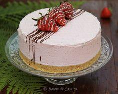 Tort cu capsuni Mousse, Deserts, Food Porn, Cake, Kuchen, Postres, Dessert, Torte, Cookies