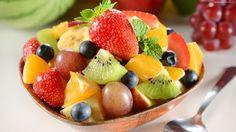 Owoce, Sałatka, Truskawka, Kiwi