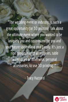 Plan your wedding with unique custom decor straight off a 3D printer.