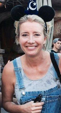 "savingpltravers: "" Emma Thompson is wearing Mickey Ears. Emma Thompson, British Actresses, Actors & Actresses, Mickey Ears, Mickey Mouse, Beautiful People, Beautiful Women, Handsome Actors, Famous Models"